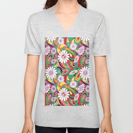 Peaceful Paisley for Peaceful Person by Lorloves Lorin Unisex V-Neck