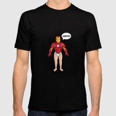 Iron Man LARGE Black Mens Fitted Tee