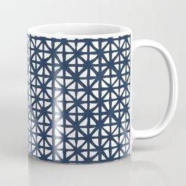 Carved Grid in Navy Blue Coffee Mug