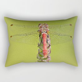 The red dragonfly Rectangular Pillow