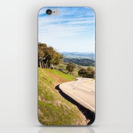 Winding road near Hearst Castle iPhone Skin