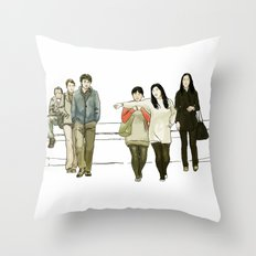 street crossing Throw Pillow