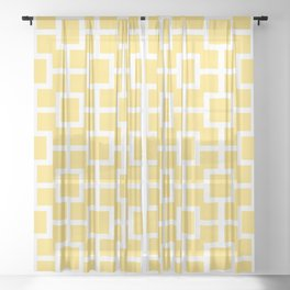 Classic Hollywood Regency Pattern 731 Yellow Sheer Curtain