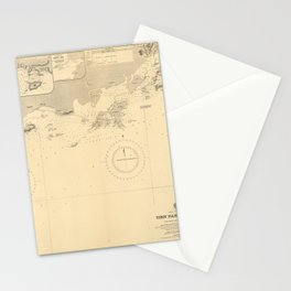 Vintage Map Print - Admiralty Chart No 2212 Tien Pak to Macao, 1911 Stationery Cards