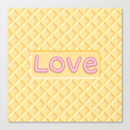 Wafer Cookie Love Canvas Print
