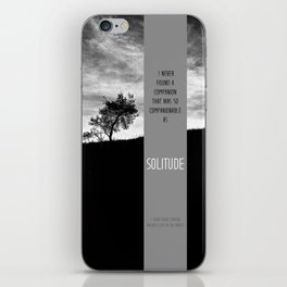 Henry David Thoreau - Solitude iPhone Skin