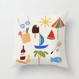 South France Throw Pillow