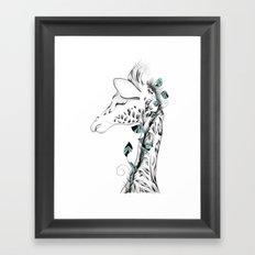 Poetic Giraffe Framed Art Print