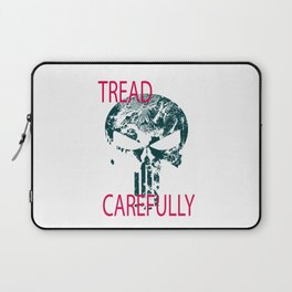 Tread Carefully Skull Laptop Sleeve