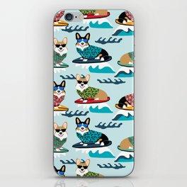 Corgi SUP Paddleboarding surfing watersports athlete summer fun dog breed iPhone Skin