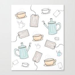 Tea Pattern Party Canvas Print