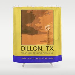 Silver Screen Tourism: DILLON, TX / FRIDAY NIGHT LIGHTS Shower Curtain