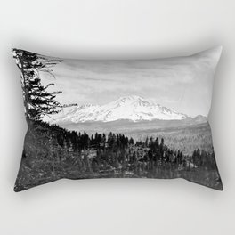 Mount Shasta, and neighboring mountain Shastina, Siskiyou County, ca.1900-1940 Rectangular Pillow