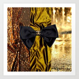 COCO GLAMOUR AND VINTAGE : BOW Art Print