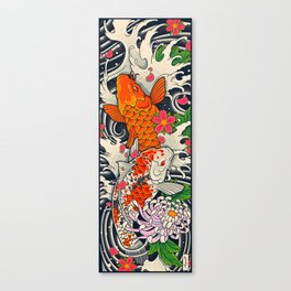 Art of Koi Fish Leggings Canvas Print