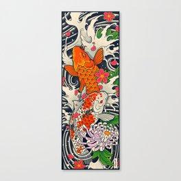Art of Koi Fish Leggings Canvas Print