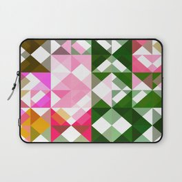 Pink Roses in Anzures 1 Abstract Triangles 1 Laptop Sleeve