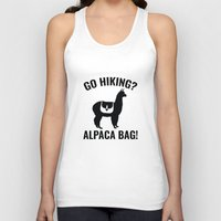hiking Tank Tops featuring Go Hiking? Alpaca Bag! by AmazingVision