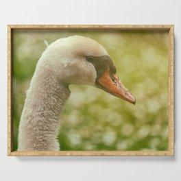 Swan Portrait Serving Tray