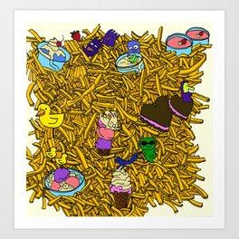 French Fries Land Art Print