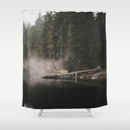 In the Fog - Landscape Photography Shower Curtain