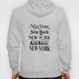 I Heart New York City Black and White New York Poster I Love NYC Design black-white home wall decor Hoodie