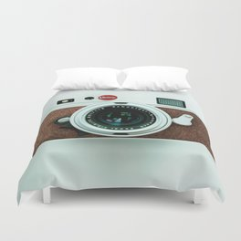 Retro brown leather Vintage camera iPhone 4 5 6 7 8 x, pillow case, mugs and tshirt Duvet Cover