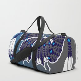 Butterfly Nation Blue Duffle Bag