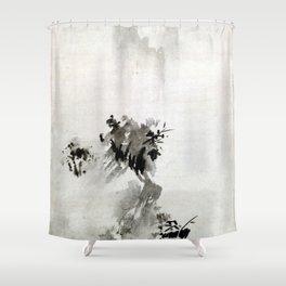 Sesshu Toyo Haboku-Sansui Landscape Shower Curtain