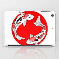 japanese iPad Cases featuring Japanese Kois by Art & Be