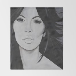Kim K Throw Blanket