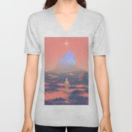Lost Astronaut Series #02 - Giant Crystal Unisex V-Neck