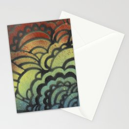 Drawing Meditation Stencil 1 - Print 9 Stationery Cards