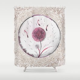 Dreams are like seeds Shower Curtain