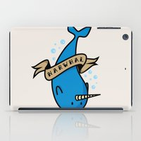 narwhal iPad Cases featuring Narwhal by Katie Bell