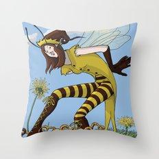Pollen Dance Throw Pillow