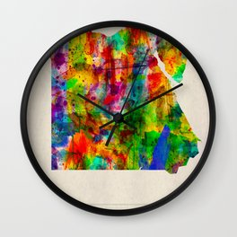 Egypt Map in Watercolor Wall Clock
