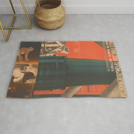 Soviet Propaganda Poster - There is No Industry without Heavy Industry (1930) Rug