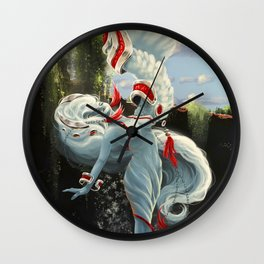Angel of the Oasis Wall Clock