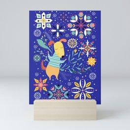 Happy Dog Year Mini Art Print