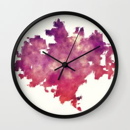 Wichita Kansas city watercolor map in front of a white background Wall Clock