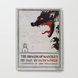 Vintage illustration - The Dragon of Wantley His Tale by Owen Wister and Illustrated by John Stewardson Metal Print