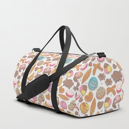 Mexican Sweet Bakery Frenzy // white background // pastel colors pan dulce Duffle Bag