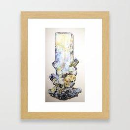 Aquamarine Schorl Framed Art Print