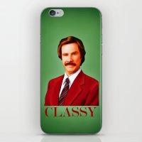 classy iPhone & iPod Skins featuring CLASSY by John Medbury (LAZY J Studios)