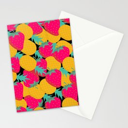 pineapples nd strawberry Stationery Cards
