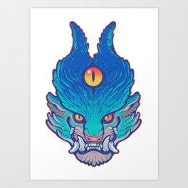 Blue Foo Art Print