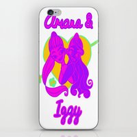 ariana grande iPhone & iPod Skins featuring Ariana Grande Ft. Iggy Azalea #2 by Glopesfirestar
