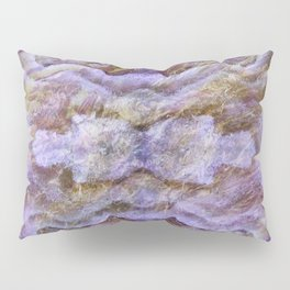 Abstract Mineral Amethyst Crystal Texture Pillow Sham