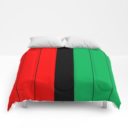 Kwanzaa Red Black Green Stripes Comforters